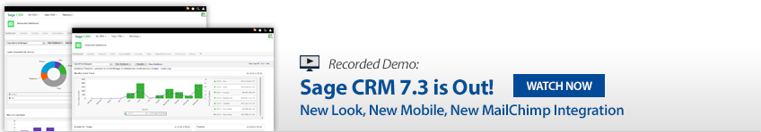Sage CRM 7.3 Demo - Whats New?