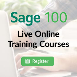 Sage 100 Live Online Training Courses